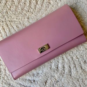Kate Spade Arbour Hill Pink Leather Wallet Clutch